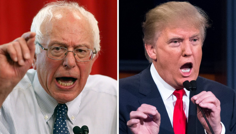 Trump removes the US from the Trans-Pacific Partnership by executive order.  Sanders agrees.