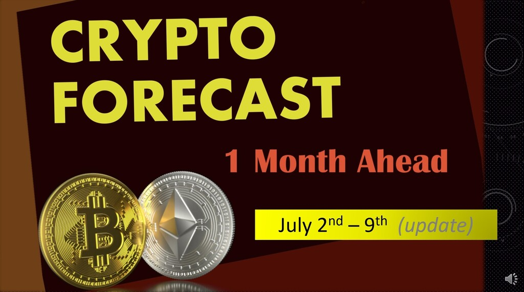 Crypto forecast 1 month ahead update