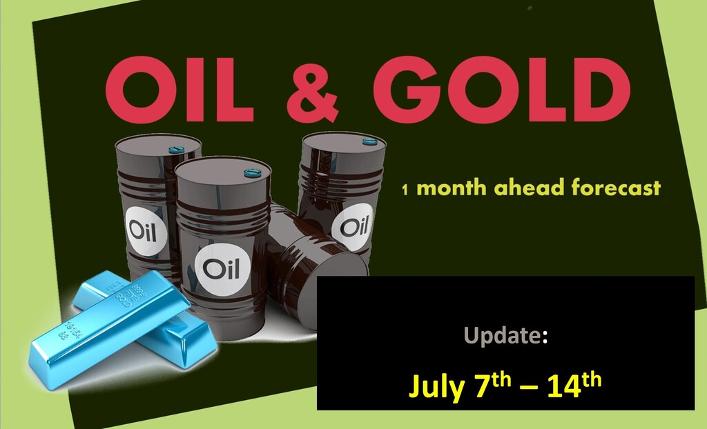 OIL & GOLD forecast 1 month ahead (July 7th – 14th update)