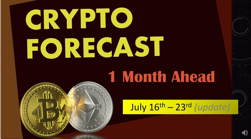 Crypto forecast 1 month ahead (July 16th – 23rd update)