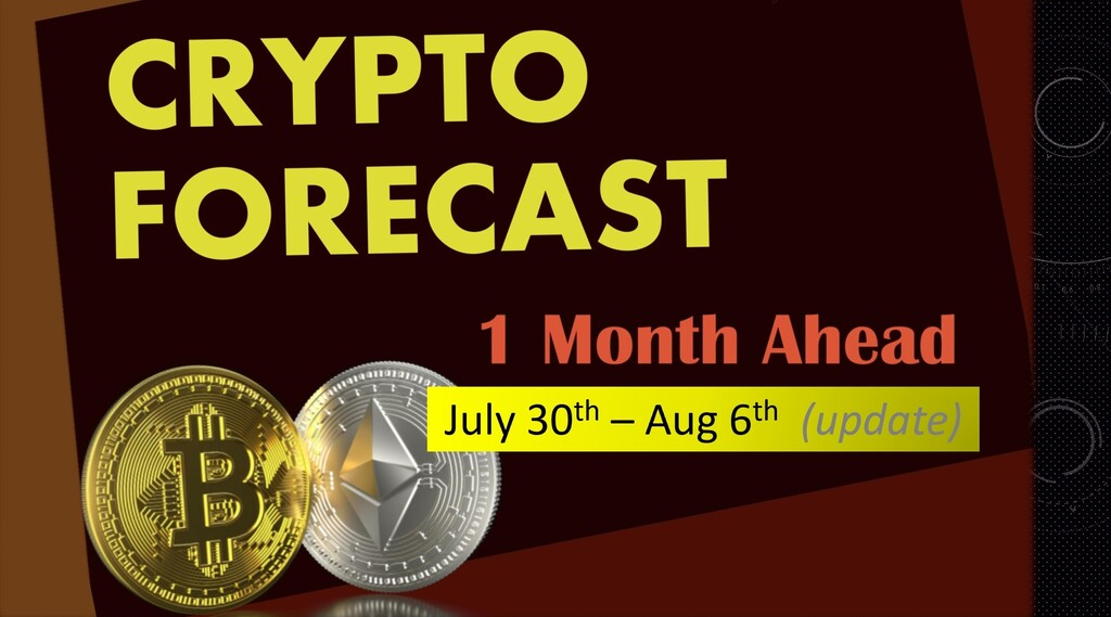 Crypto forecast 1 month ahead until August 30th 2020