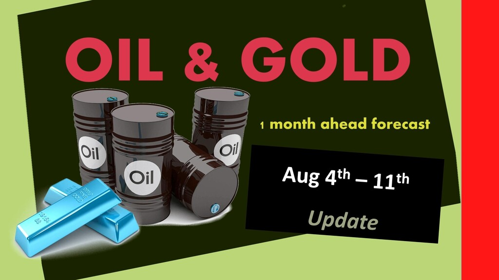 Commodities forecast 1 month ahead (Aug 4th – 11th update)