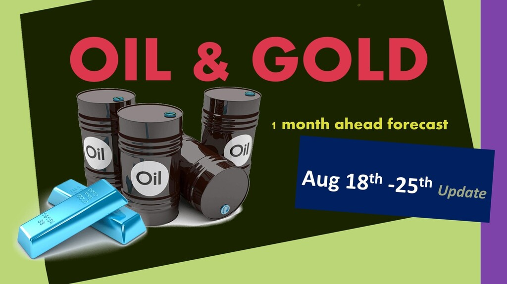 OIL & GOLD forecast 1 month ahead (until September 17th)