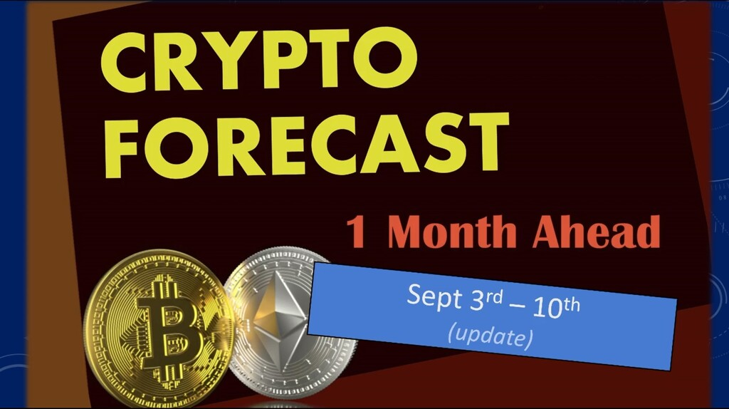 Crypto forecast 1 month ahead until October 3rd 2020