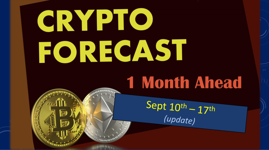 Crypto forecast 1 month ahead until October 10th 2020